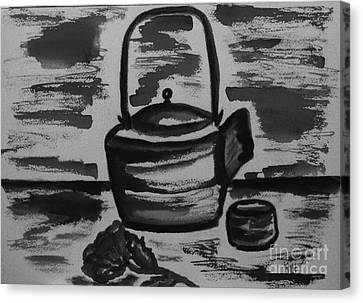 Tea For Me Canvas Print by Marsha Heiken