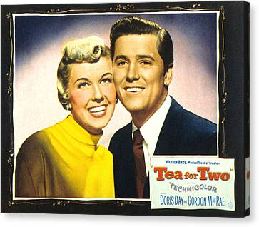 Tea For Two, From Left Doris Day Canvas Print by Everett