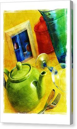 Tea Pot Canvas Print by Mauro Celotti