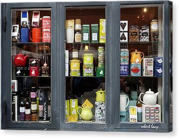 Tea Shop Canvas Print by Robert Lacy