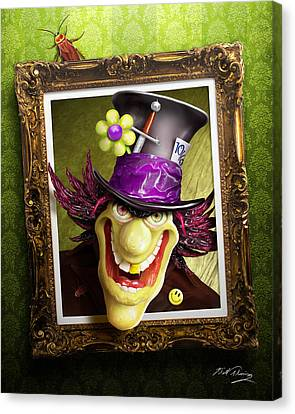 Mad Hatter Canvas Print - Tea Time For The Twisted by Bill Fleming
