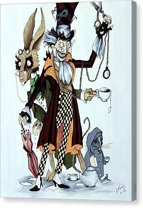 Tea Time Canvas Print by Leeann Stumpf