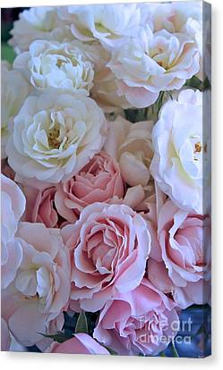 Tea Time Roses Canvas Print by Carol Groenen