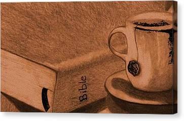 Tea With Jesus Canvas Print by Shannon Redmon