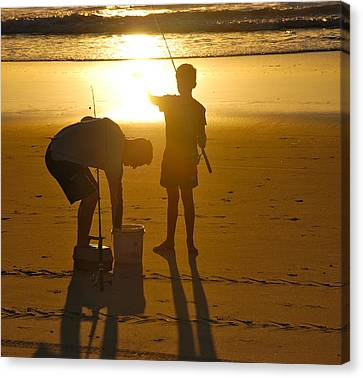 Canvas Print featuring the photograph Teach A Man To Fish... by Eric Tressler