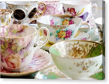 Teacups Canvas Print by Kim Fearheiley