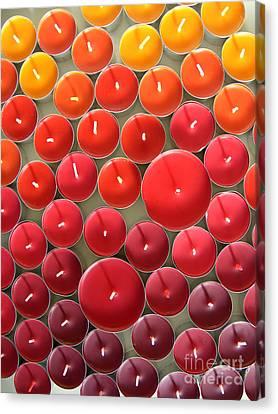 Tealights Canvas Print by Karin Ubeleis-Jones