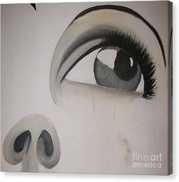 Tear Stains Canvas Print by Rachel Carmichael