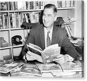 Ted Geisel Dr. Seuss 1904-1991 Seated Canvas Print by Everett