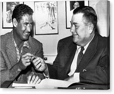 Williams Ted Canvas Print - Ted Williams, And Tom Yawkey, Owner by Everett