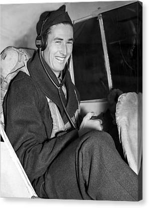 Ted Williams In Navys Flight Training Canvas Print by Everett