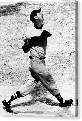 Ted Williams Of The Boston Red Sox, Aug Canvas Print by Everett