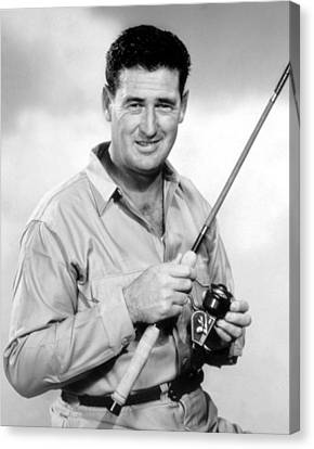 Ted Williams, With His Signature Canvas Print by Everett