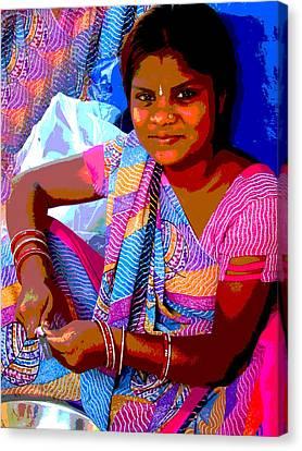 Teenage Girl Canvas Print by Vijay Sharon Govender