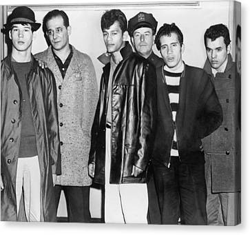 1950s Fashion Canvas Print - Teenage Members Of The Brooklyn Puerto by Everett