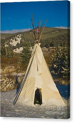 On Line Art Galleries Canvas Print - Teepee In The Snow 2 by James BO  Insogna