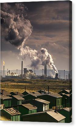 Teesside Refinery, England Canvas Print by John Short