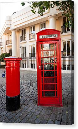 Telephone And Post Box Canvas Print by Dawn OConnor