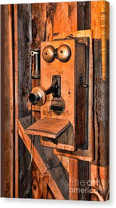 Telephone - Antique Hand Cranked Phone Canvas Print by Paul Ward