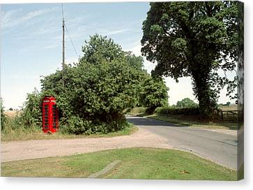 Telephone Box Canvas Print by Victor De Schwanberg