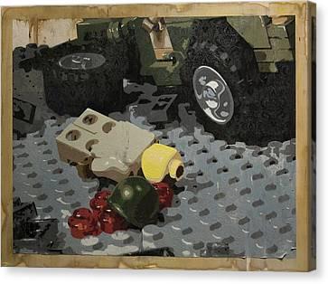 Tellermine Aftermath Canvas Print by Josh Bernstein