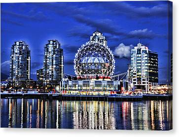 Telus Science Center Vancouver Bc Canvas Print by Lawrence Christopher