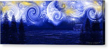 Tempestuous Night Canvas Print by Lourry Legarde