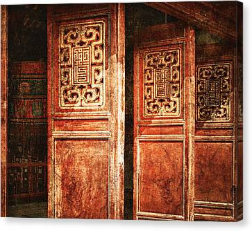 Temple Door Canvas Print by Skip Nall