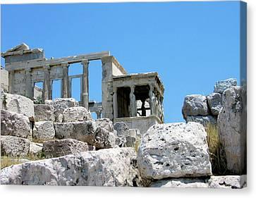 Temple Of Athena On Acropolis Canvas Print