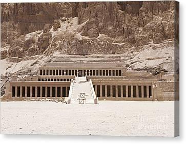 Temple Of Hatshepsut Canvas Print by Adam Crowley