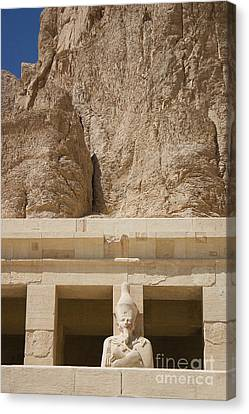 Temple Of Hatshepsut Canvas Print by Darcy Michaelchuk