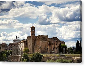 Temple Of Venus And Roma Canvas Print by Fabrizio Troiani
