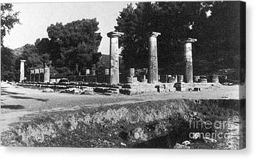 Zeus Canvas Print - Temple Of Zeus, Olympia, Greece by Photo Researchers