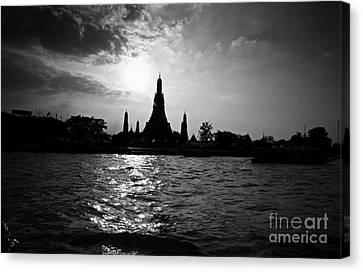 Temple Silhouette Canvas Print