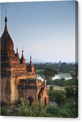 Temples Of Bagan Canvas Print by Nina Papiorek