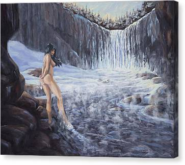 Canvas Print featuring the painting Temptation Of Ice by Kurt Jacobson