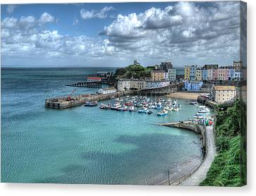 Canvas Print featuring the photograph Tenby Harbour Pembrokeshire 4 by Steve Purnell
