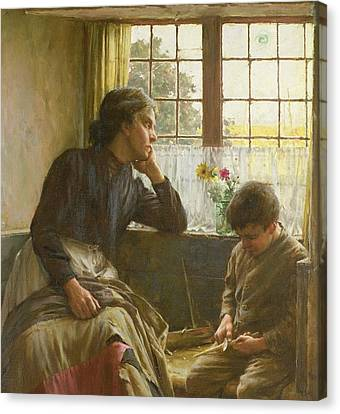 Tender Grace Of A Day That Is Dead Canvas Print by Walter Langley