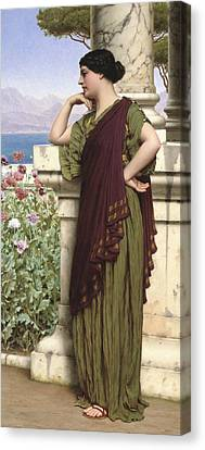Tender Thoughts Canvas Print by John William Godward