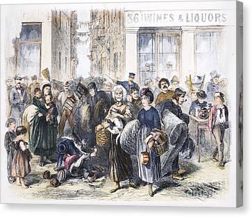 Tenement Life, 1871 Canvas Print