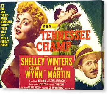 Tennessee Champ, Shelley Winters Canvas Print by Everett