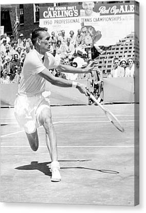 Tennis Champion Jack Kramer, Playing Canvas Print by Everett