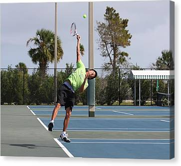 Tennis Serve Canvas Print