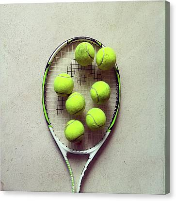 Tennis Canvas Print by Shilpa Harolikar