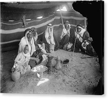 1920s Candid Canvas Print - Tent At Locust Killers Camp by Everett