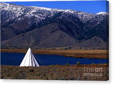 Tepee Canvas Print by Barry Shaffer