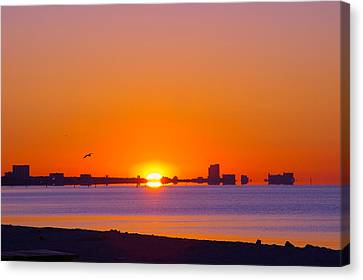Canvas Print featuring the photograph Tequila Sunrise by Brian Wright