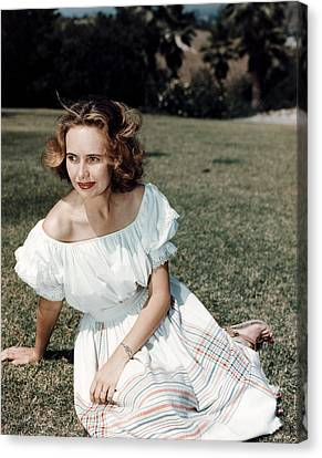 Teresa Wright, Ca. Late 1950s Canvas Print by Everett
