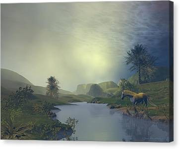 Terra Pacis Canvas Print by Sipo Liimatainen