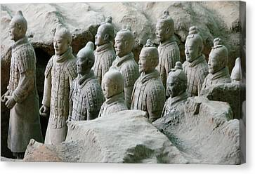 Terracotta Army Xi'an Canvas Print by Jessica Estrada